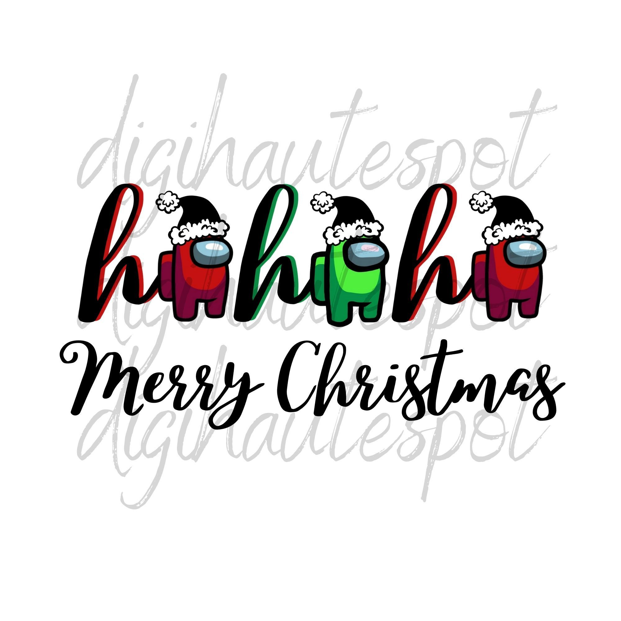 Among Us Christmas SVG PNG JPG digital files Etsy Cute 2000x2000