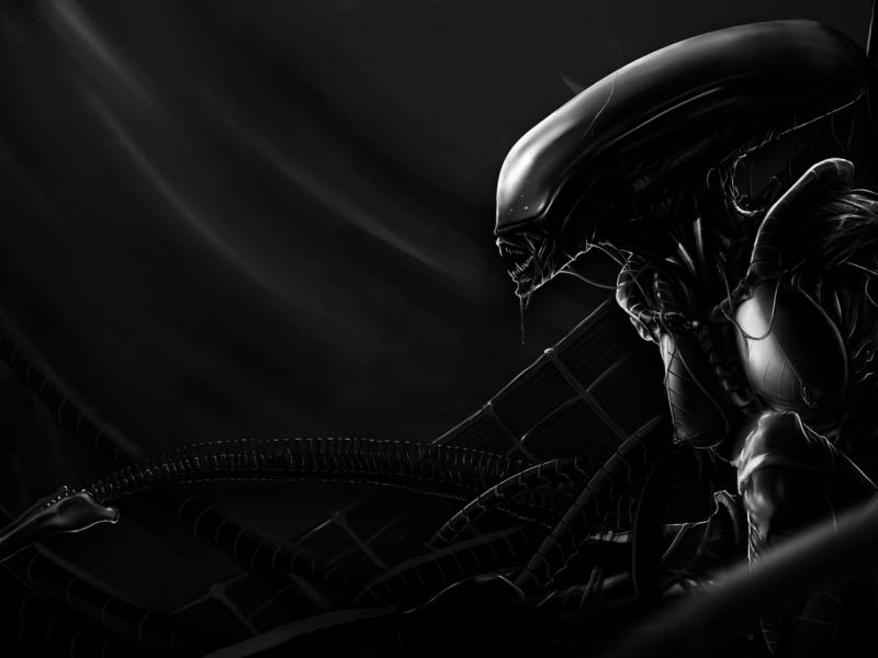 Dark Alien Artwork Wallpaper Cool Wallpapers 800x600