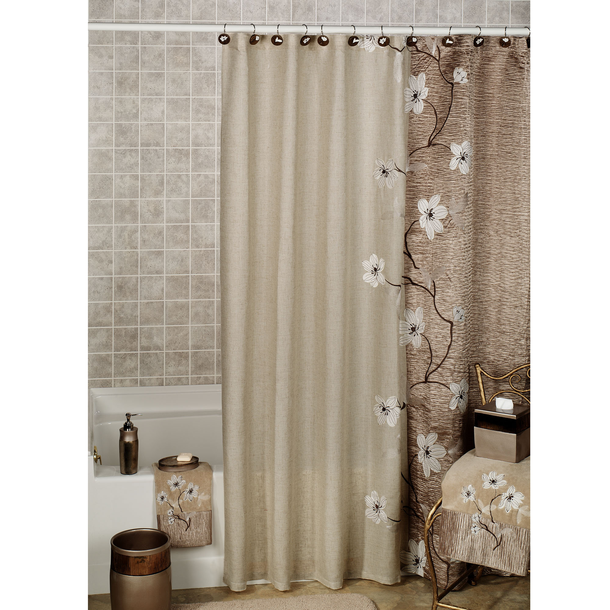 Home Magnolia Floral Shower Curtain by Croscill 2000x2000