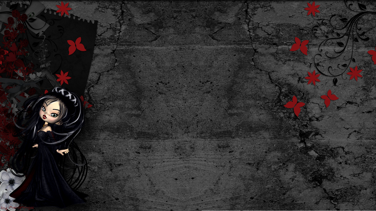 Little Goth Girl Twitter Backgrounds Little Goth Girl Twitter Themes 1600x900