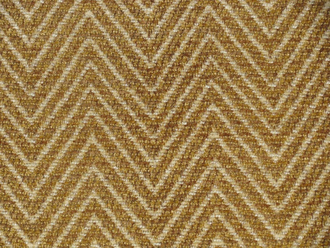 You are buying GOLD WITH BEIGE CHENILLE ZIG ZAG UPHOLSTERY FABRIC that 650x488