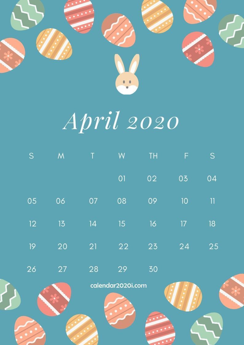 April 2020 Calendar Design Calendar design template Calendar 794x1123