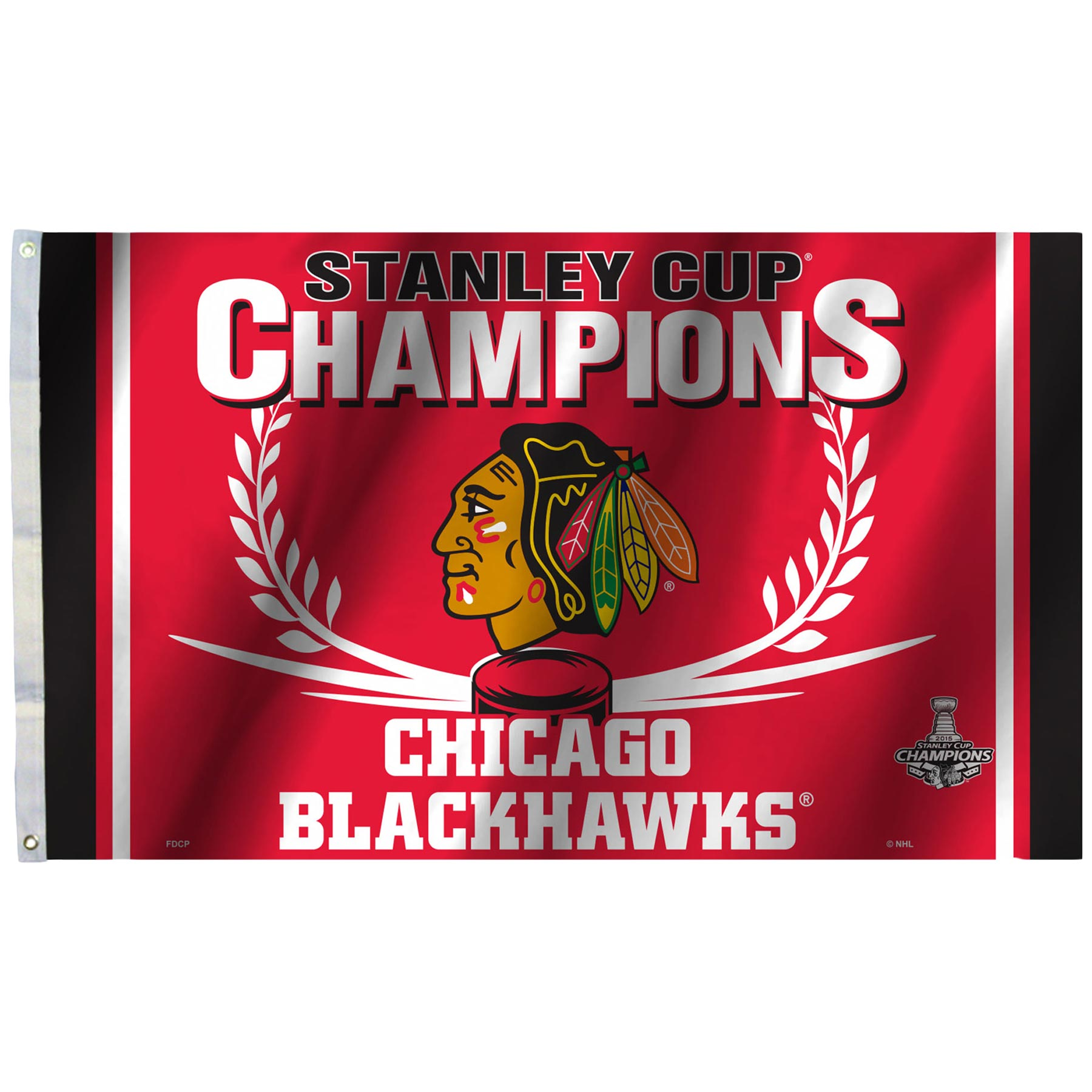 Chicago Blackhawks 2015 Stanley Cup Champions 3ft X 5ft Flag 1800x1800