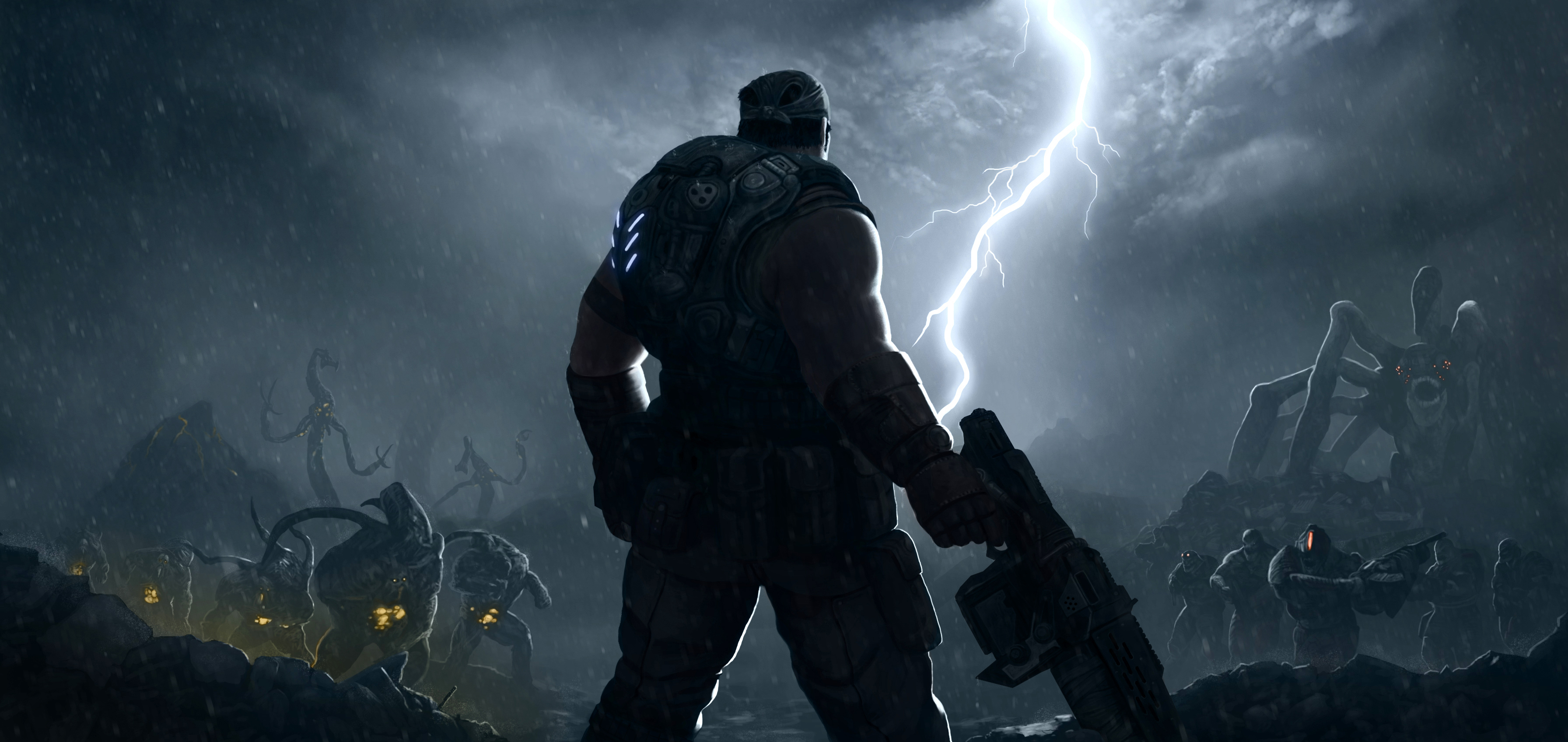 Free Download Gears Of War 3 Wallpaper Hd 3584x1696 For Your