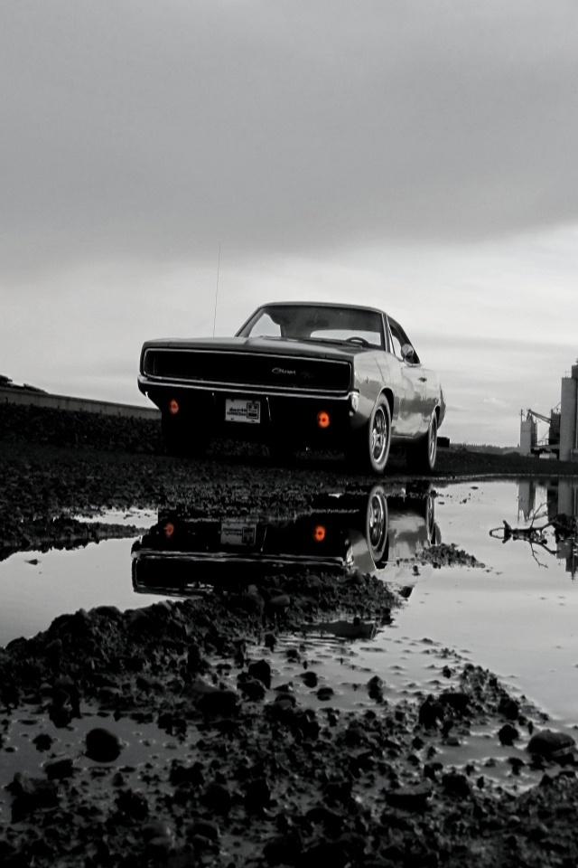 Dodge Challenger 1969 Black >> Dodge Charger iPhone Wallpaper - WallpaperSafari