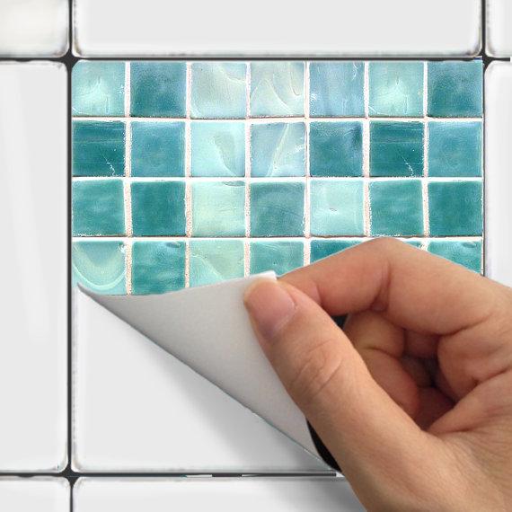 Tile Decals Vinyl Sticker WATERPROOF Tile or Wallpaper for Kitchen 570x570