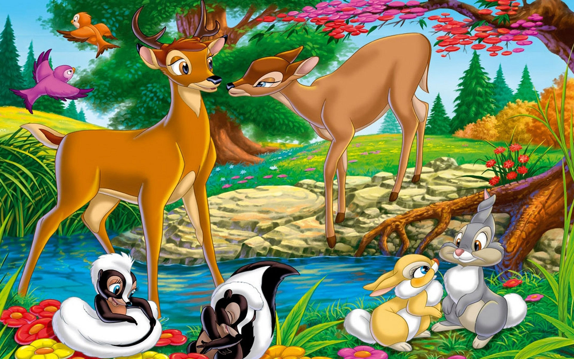 wallpaper bambi couples cute toonswallpapers 1920x1200