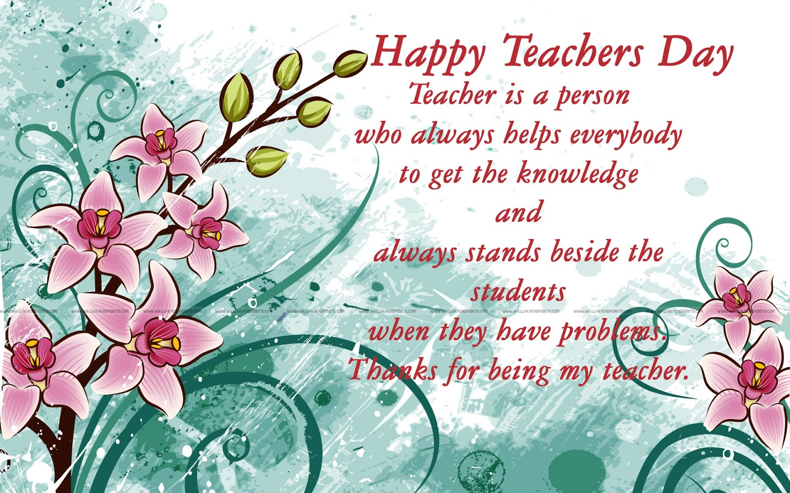 ALL IN ONE WALLPAPERS Teachers Day Wallpapers 1600x1000