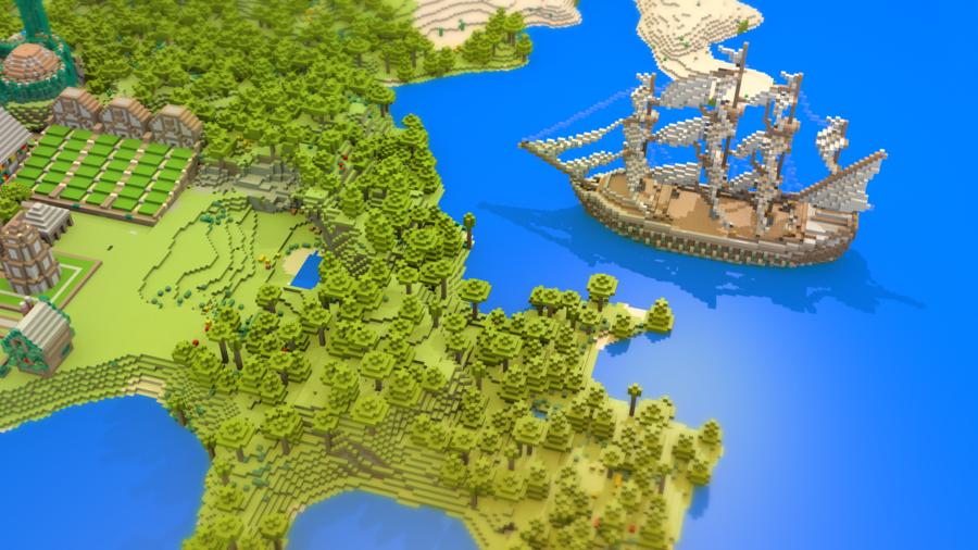 Minecraft Landscape Wallpaper by magicjohnson92 900x506