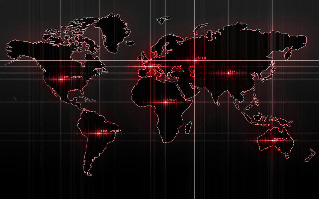 Black World Map Backgrounds For PowerPoint   Miscellaneous PPT 1280x800