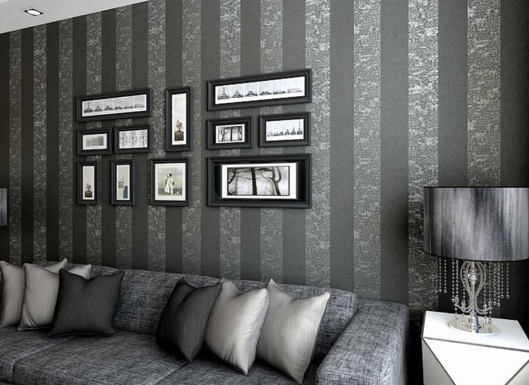 Living Room Wallpaper Grey And Black Homebase Wallpaper