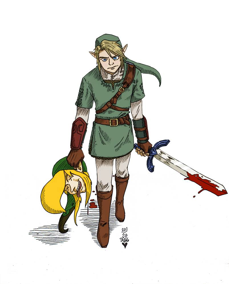 MORONTOPIA   Link slays LinkNo background by Demondog888 on 803x995