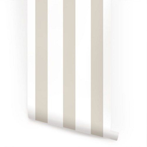 Vertical Grey Peel and Stick Fabric Wallpaper Repositionable 500x500