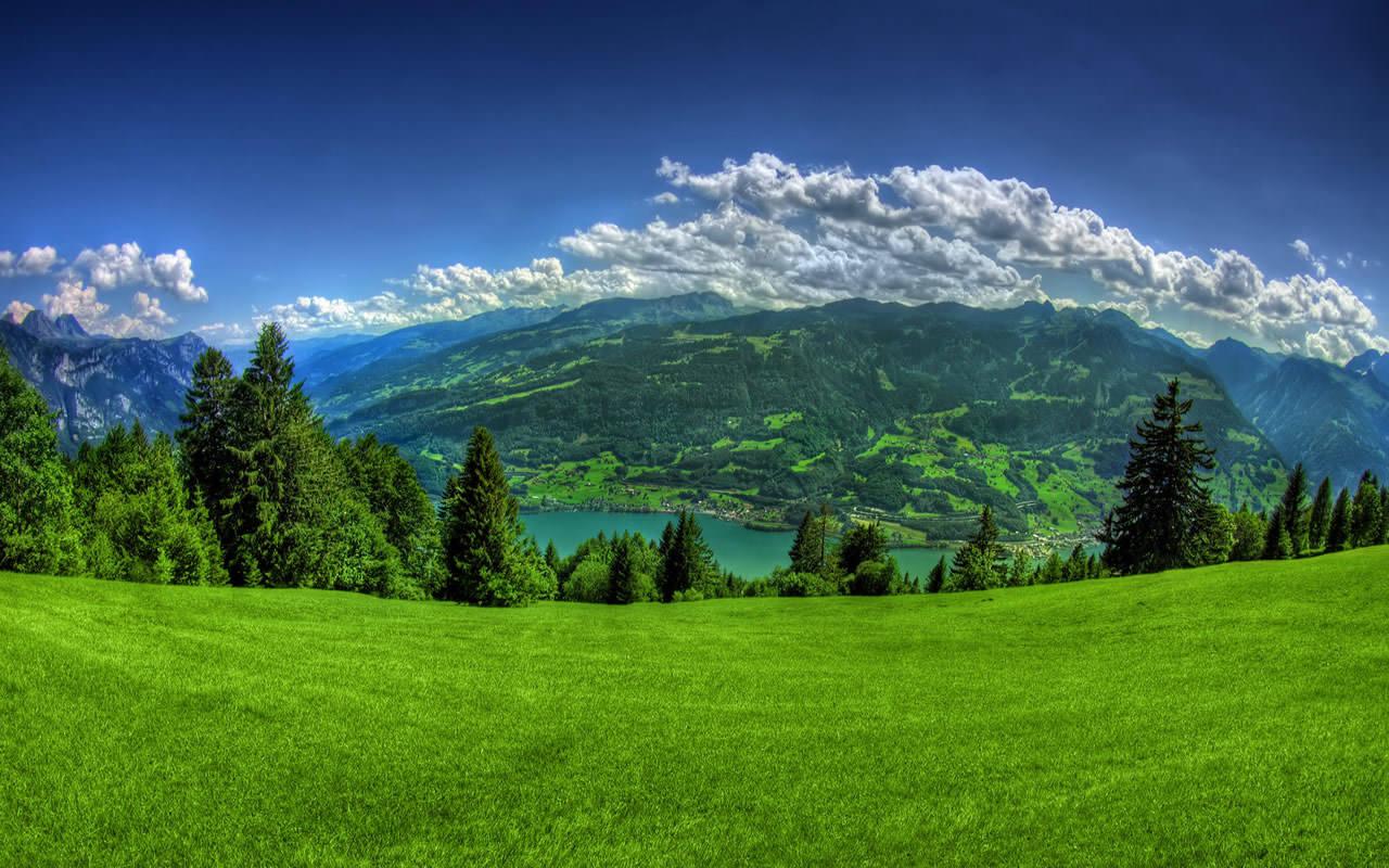 Spring mountain alps desktop wallpaper background 1280x800