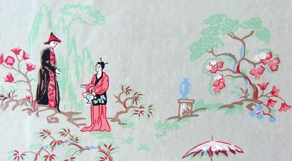 Asian inspired wallpaper wallpapersafari for Chinese style wallpaper uk