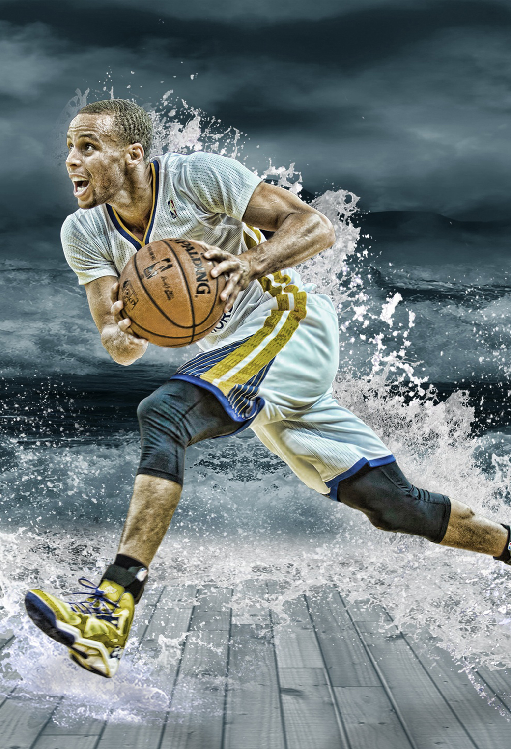 Best Wallpapers for all iPhone Retina Stephen Curry Splash 1040x1526