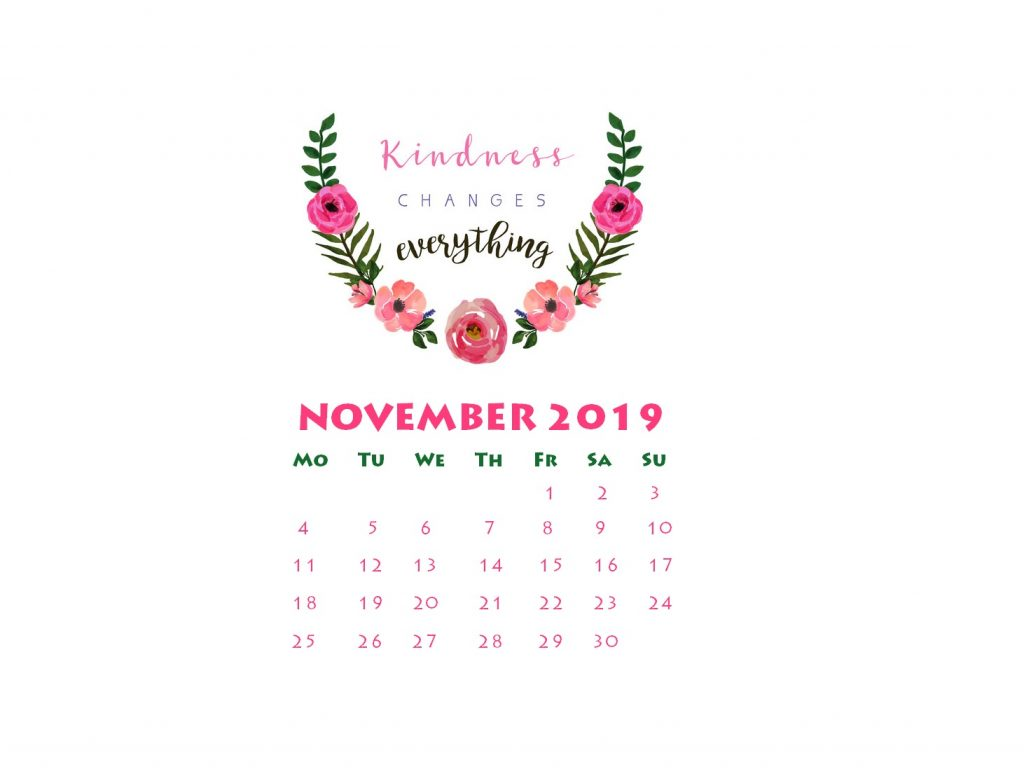 November 2019 Desktop Wallpaper Calendar 2020 1024x776
