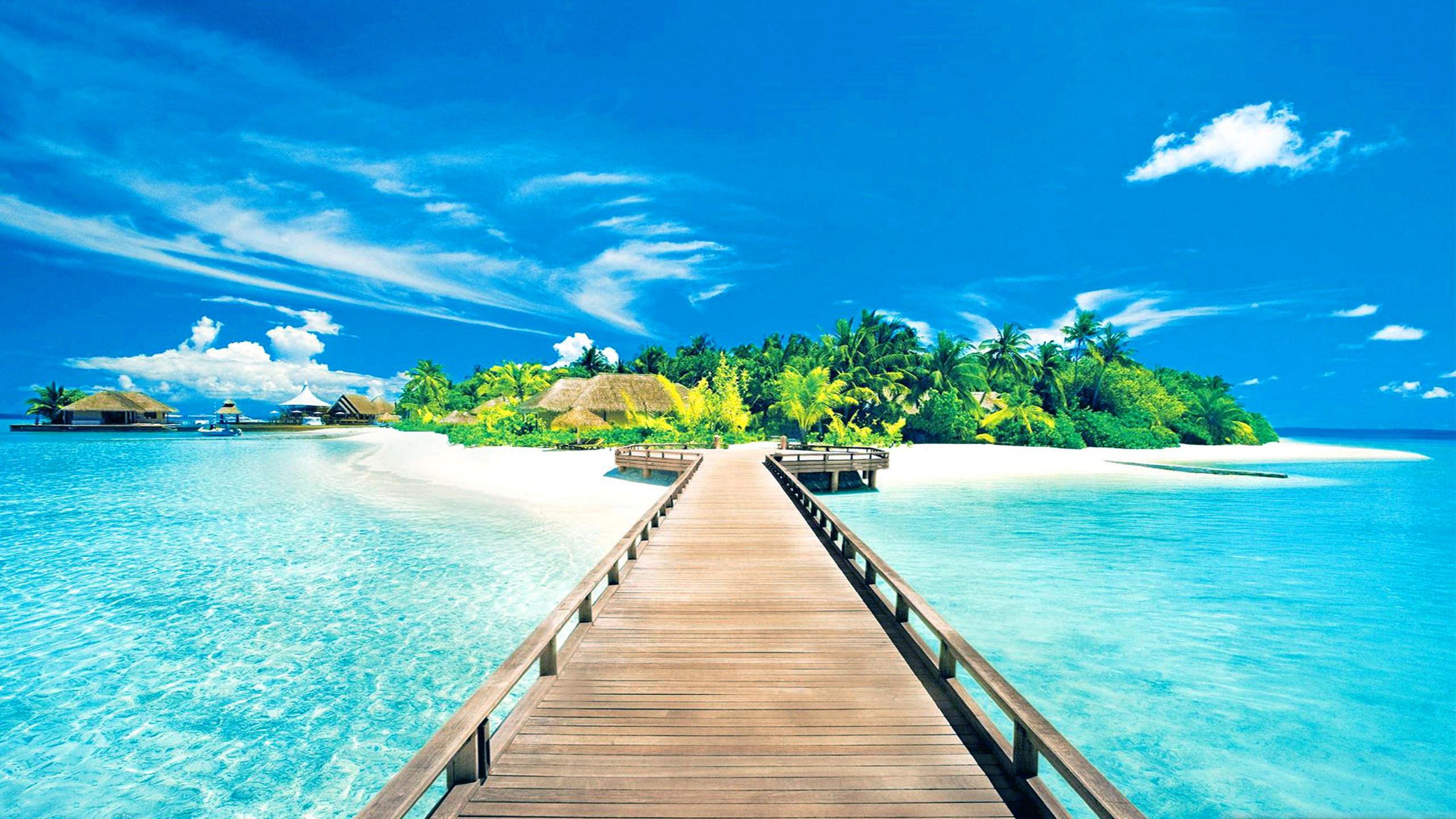 Pics Photos   Wallpaper Hd Tropical Island Backgrounds 2560x1440