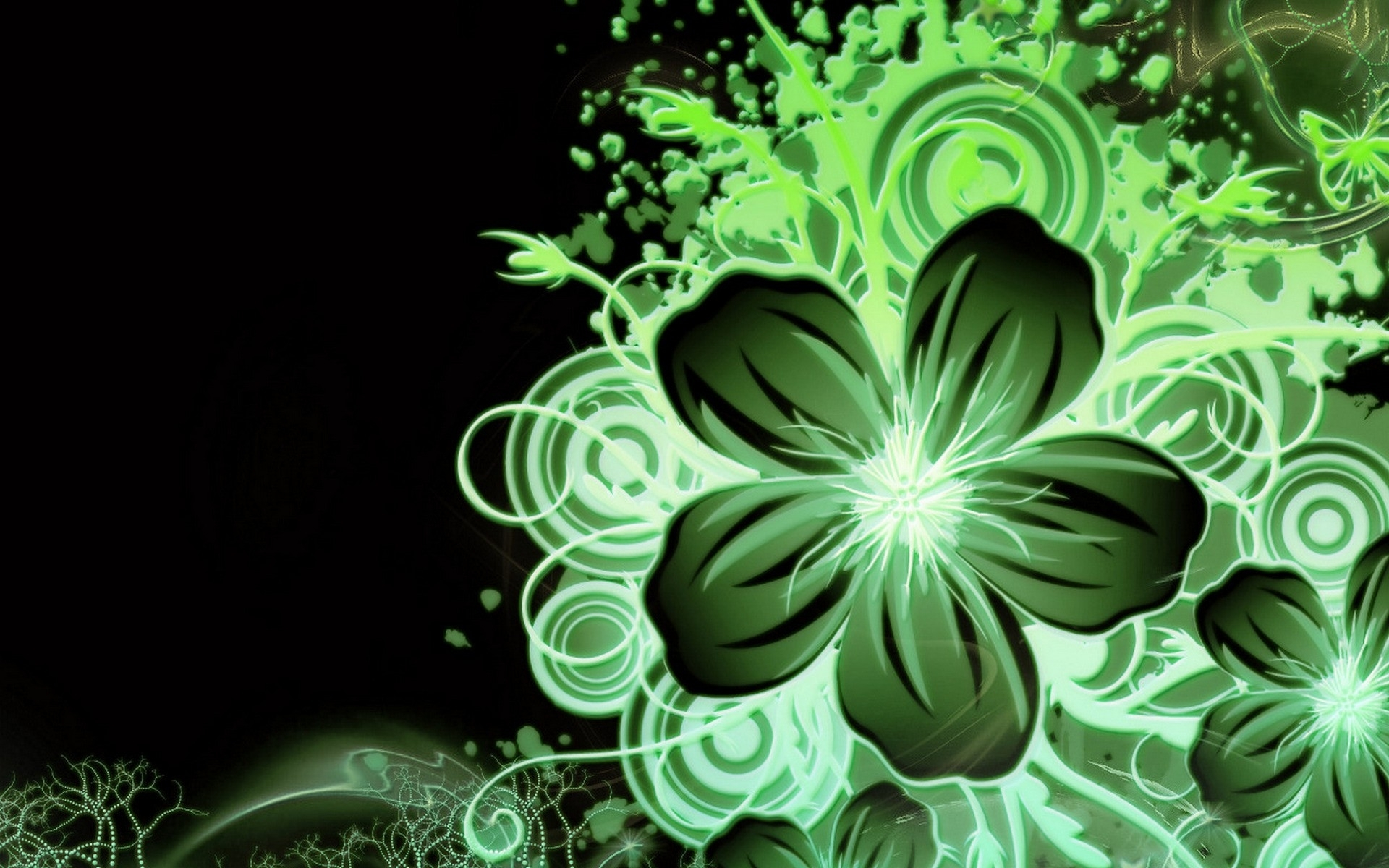 Multi Color Green Flower wallpapers Multi Color Green Flower stock 1920x1200