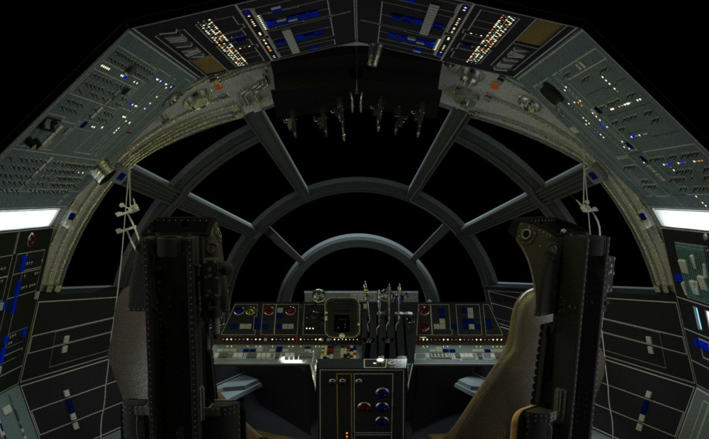 47 Millenium Falcon Cockpit Wallpaper On Wallpapersafari