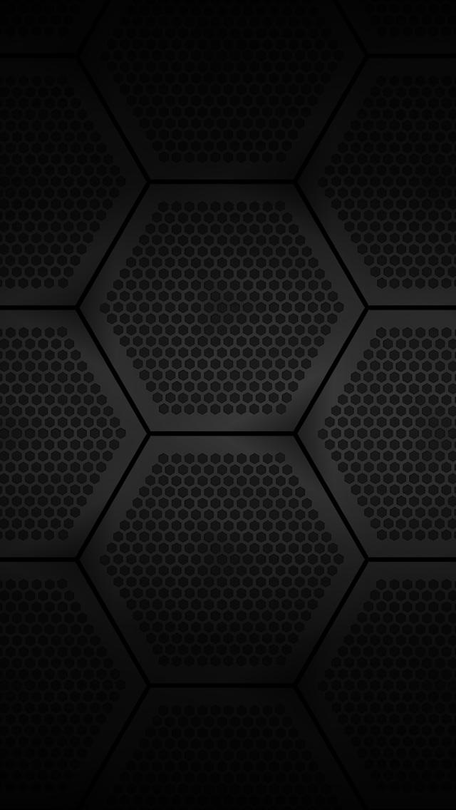 Black Hexagons iPhone 5 Wallpaper 640x1136 640x1136