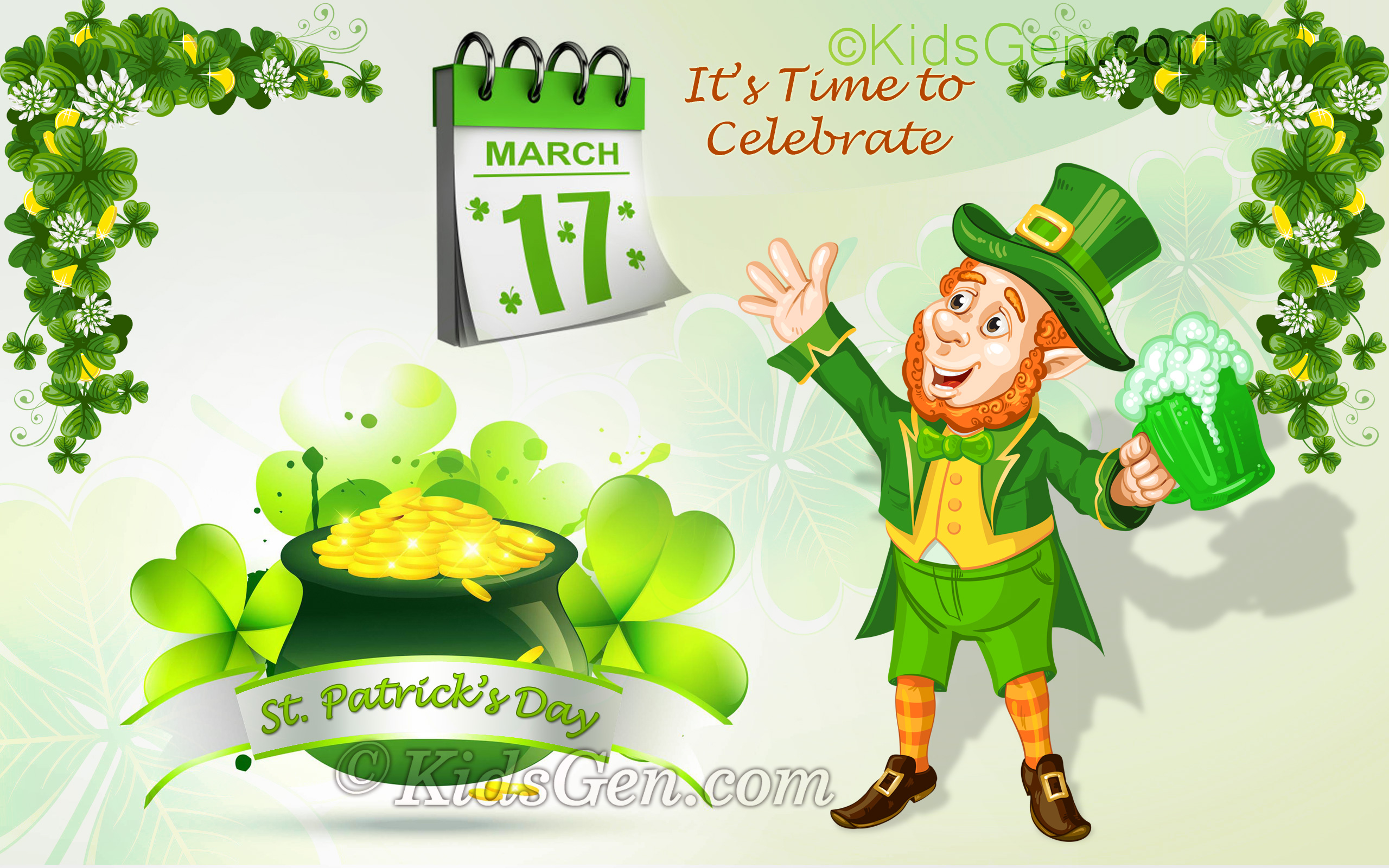 Patricks Day Wallpaper For Kids   Saint Patricks Day Wallpapers 2560x1600