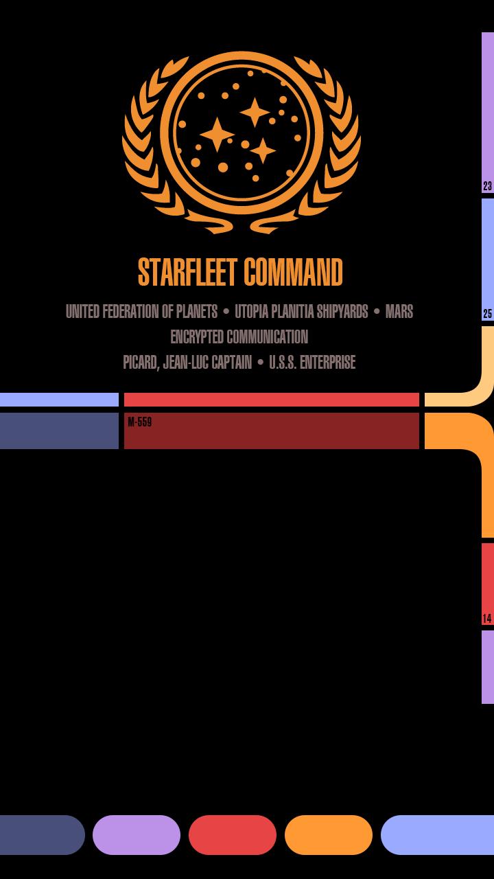 ostermeiernet iPhone Wallpaper im Star Trek Look 720x1280