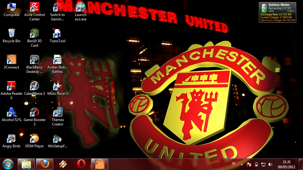 Download Manchester United Windows 7 and Windows 8 Theme 1024x576