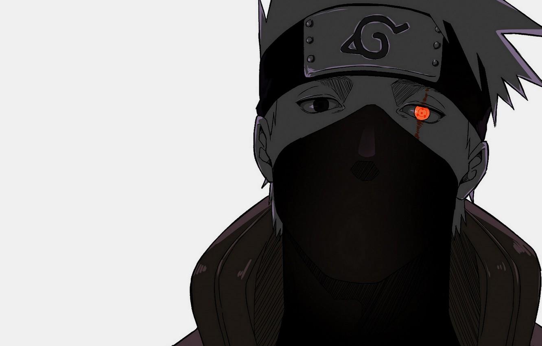 Wallpaper look mask Naruto Naruto Sharingan Kakashi Hatake 1332x850