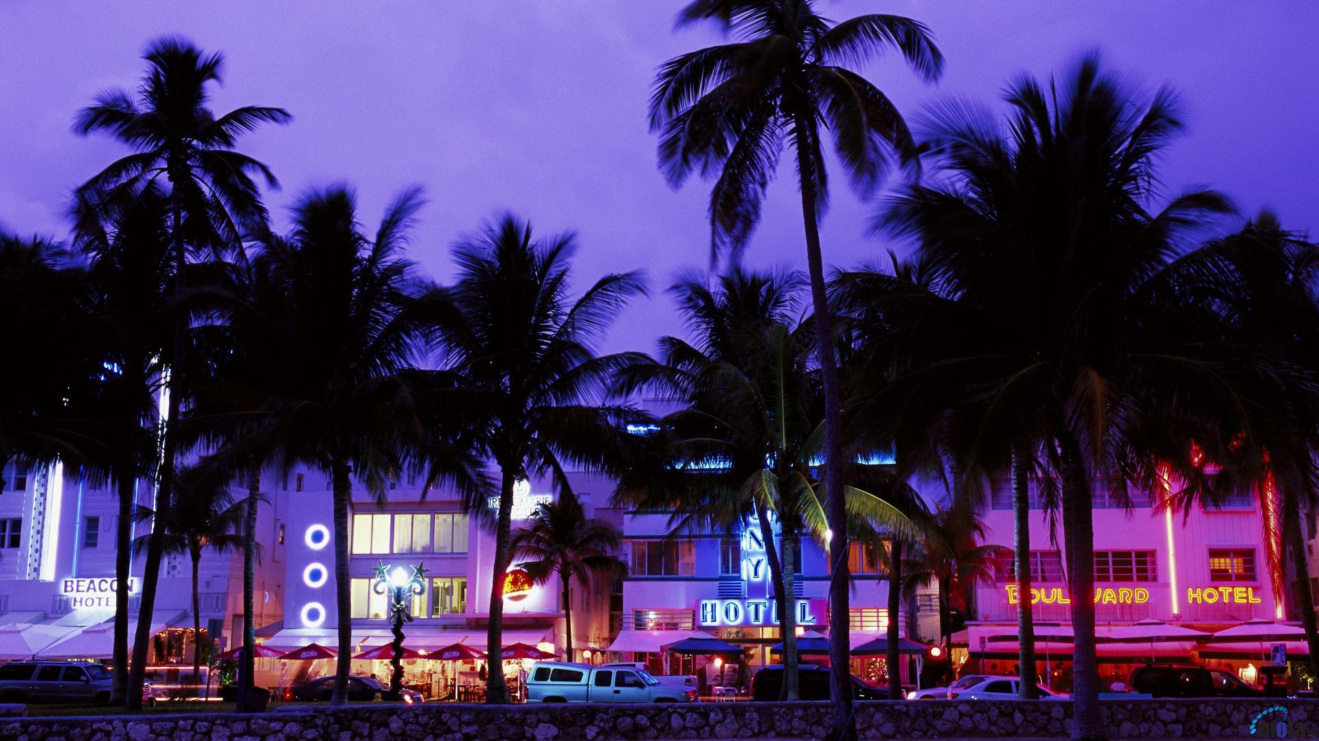 Desktop wallpapers Art Deco District South Beach Miami Beach 1920x1080