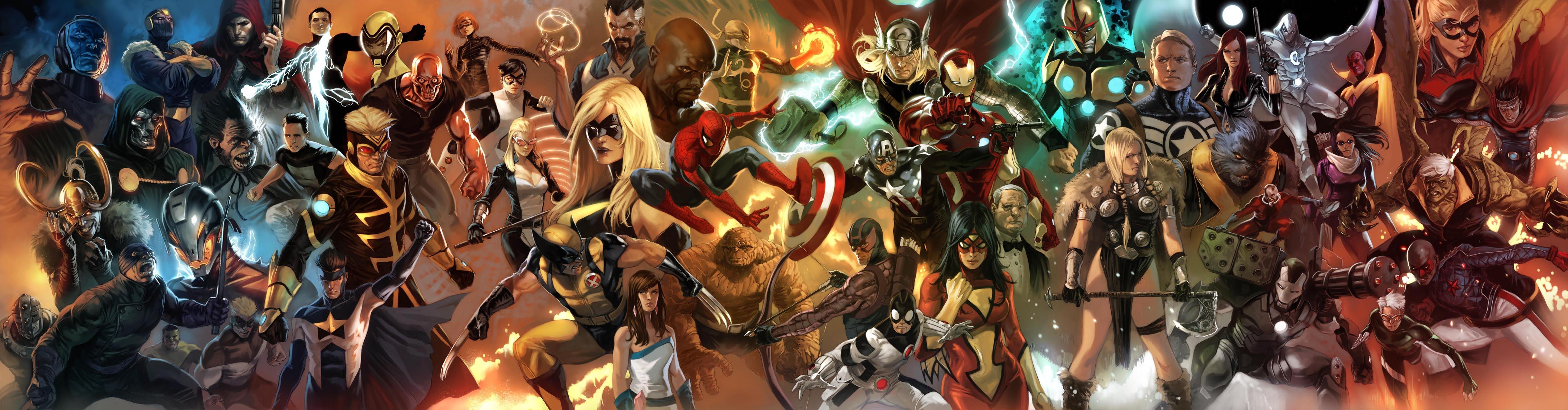 43 Marvel Dual Monitor Wallpaper On Wallpapersafari