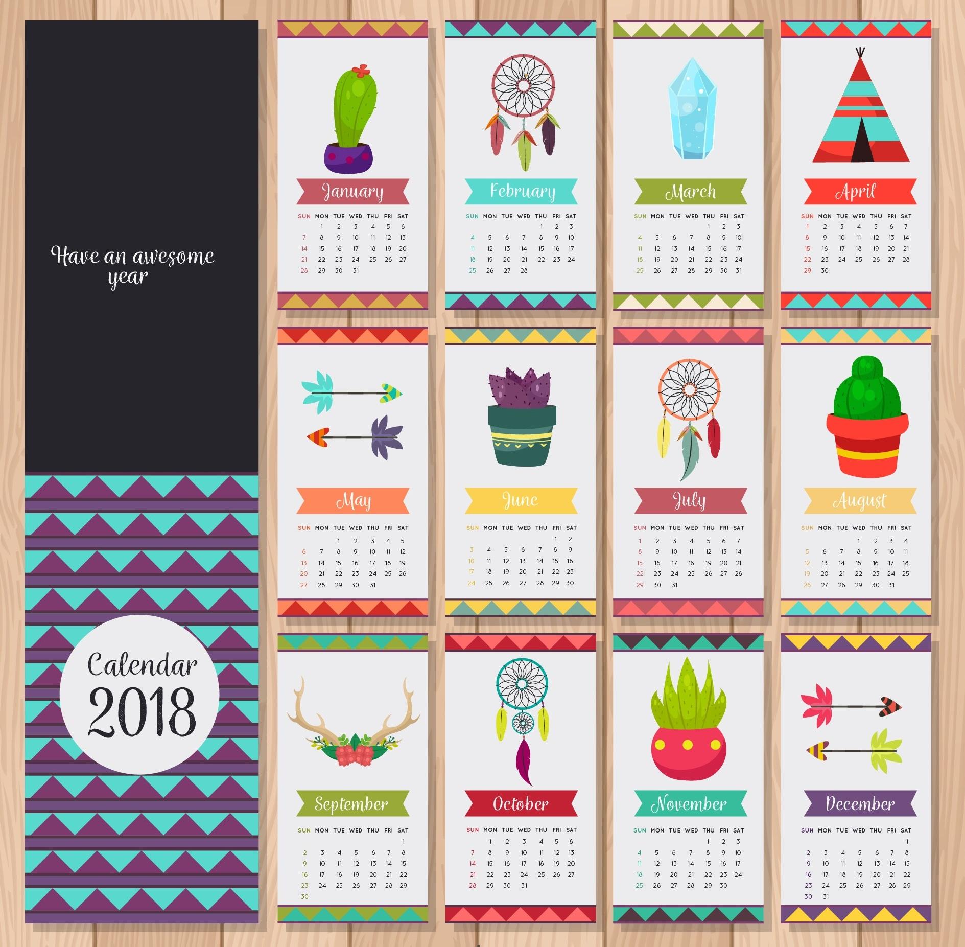 calendar wallpaper 2018 1889x1853