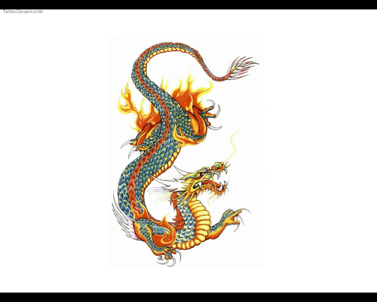 Japanese Dragon Arm Tattoo 1280x1024