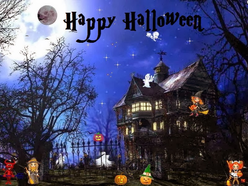 Famous Halloween Haunted House Decorate with Light   Festival Chaska 800x600