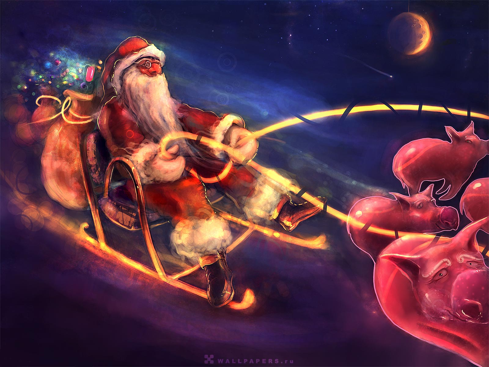 FULL WALLPAPER funny christmas wallpaper 1600x1200