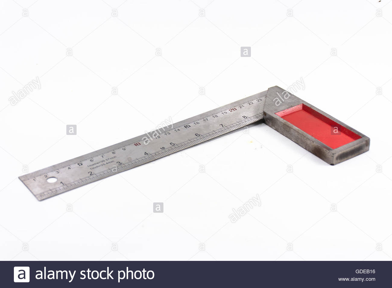 Machinist square tool isolated on white backgroundHousehold or 1300x956