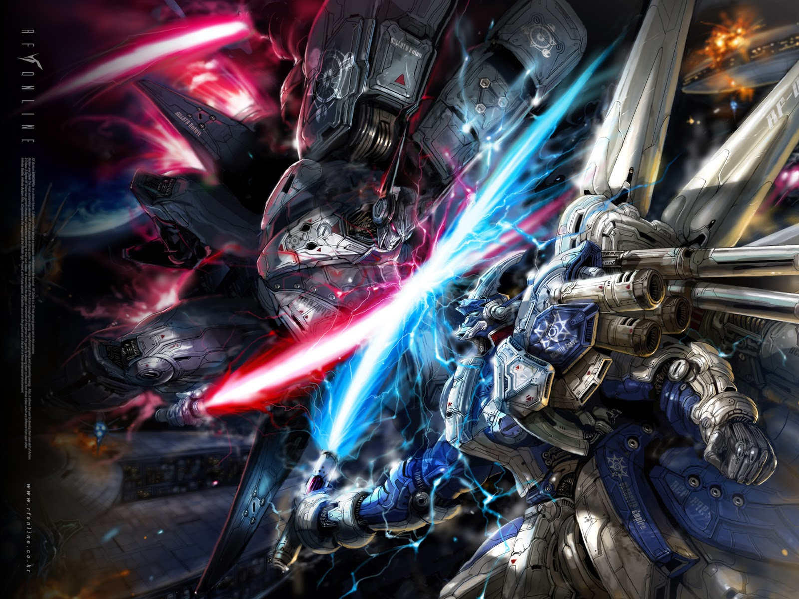 Gundam Mecha Robot Fighting Laser Sword Anime HD Wallpaper Desktop PC 1600x1200