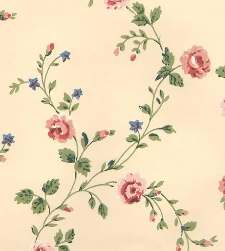 Historic Reproduction Wallpaper Quaint Victorian Calico Floral eBay 448x500