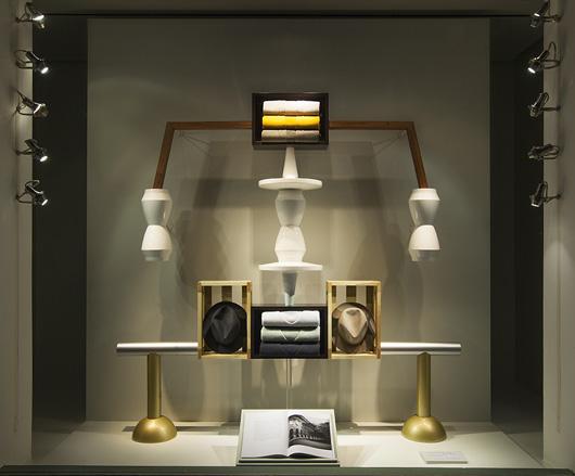 Designer Fotis Evans latest windows for Herms Madison Avenue store 530x439