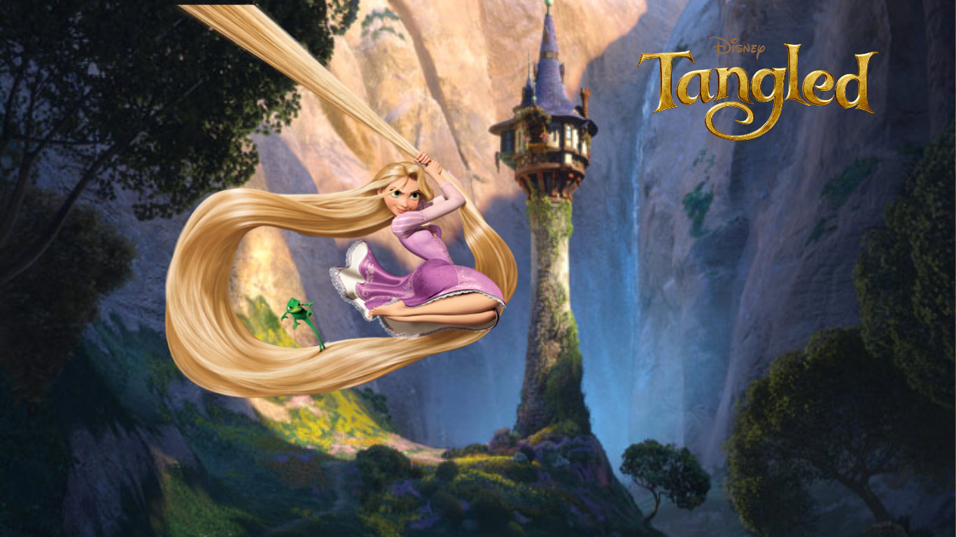 Pics Photos   Disney Tangled Wallpaper Rapunzel 1366x768