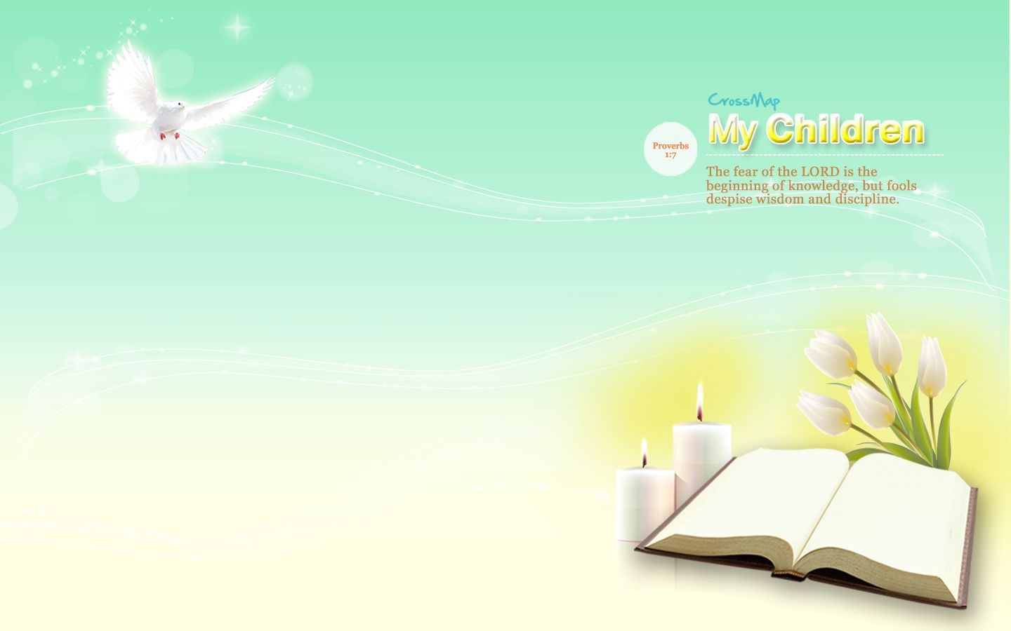 The Begining of Knowledge Christian Illustrations Crossmap 1440x900