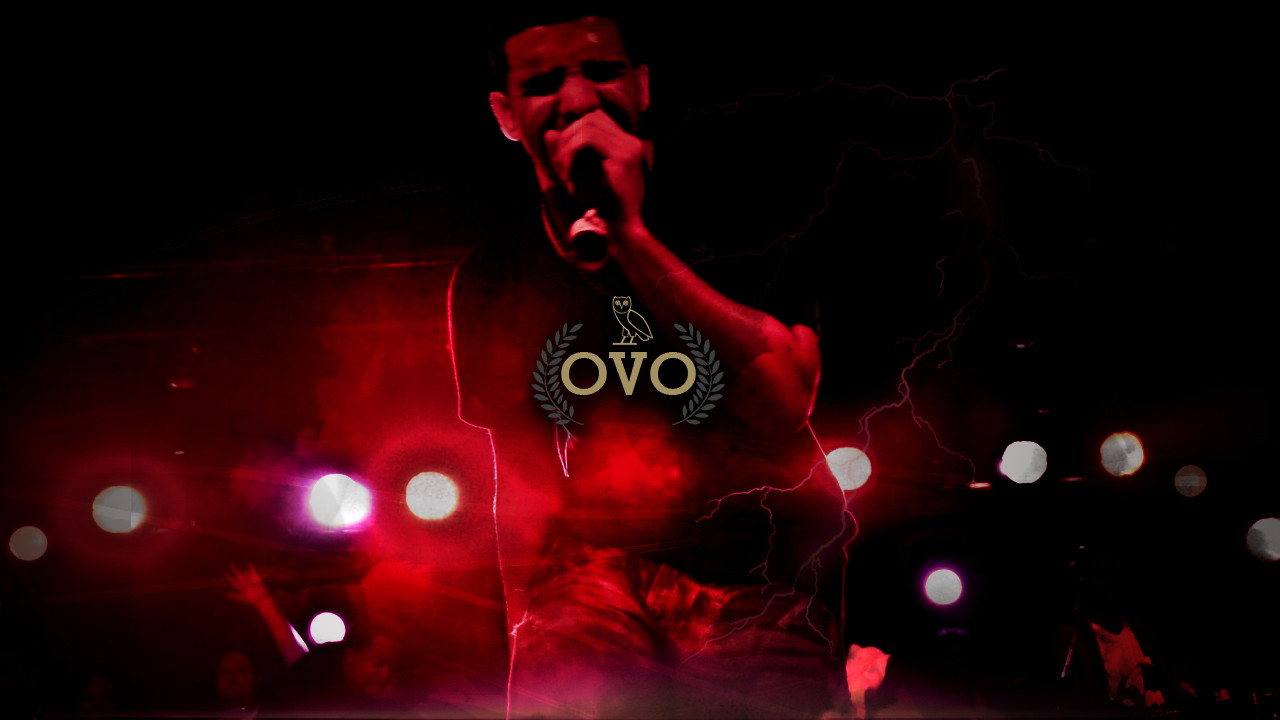 Drake Red Ovo Rap Wallpapers 1280x720