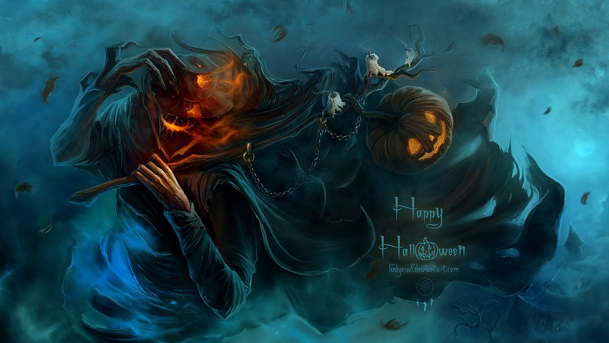 download Halloween Backgrounds PixelsTalk Halloween 1200x675