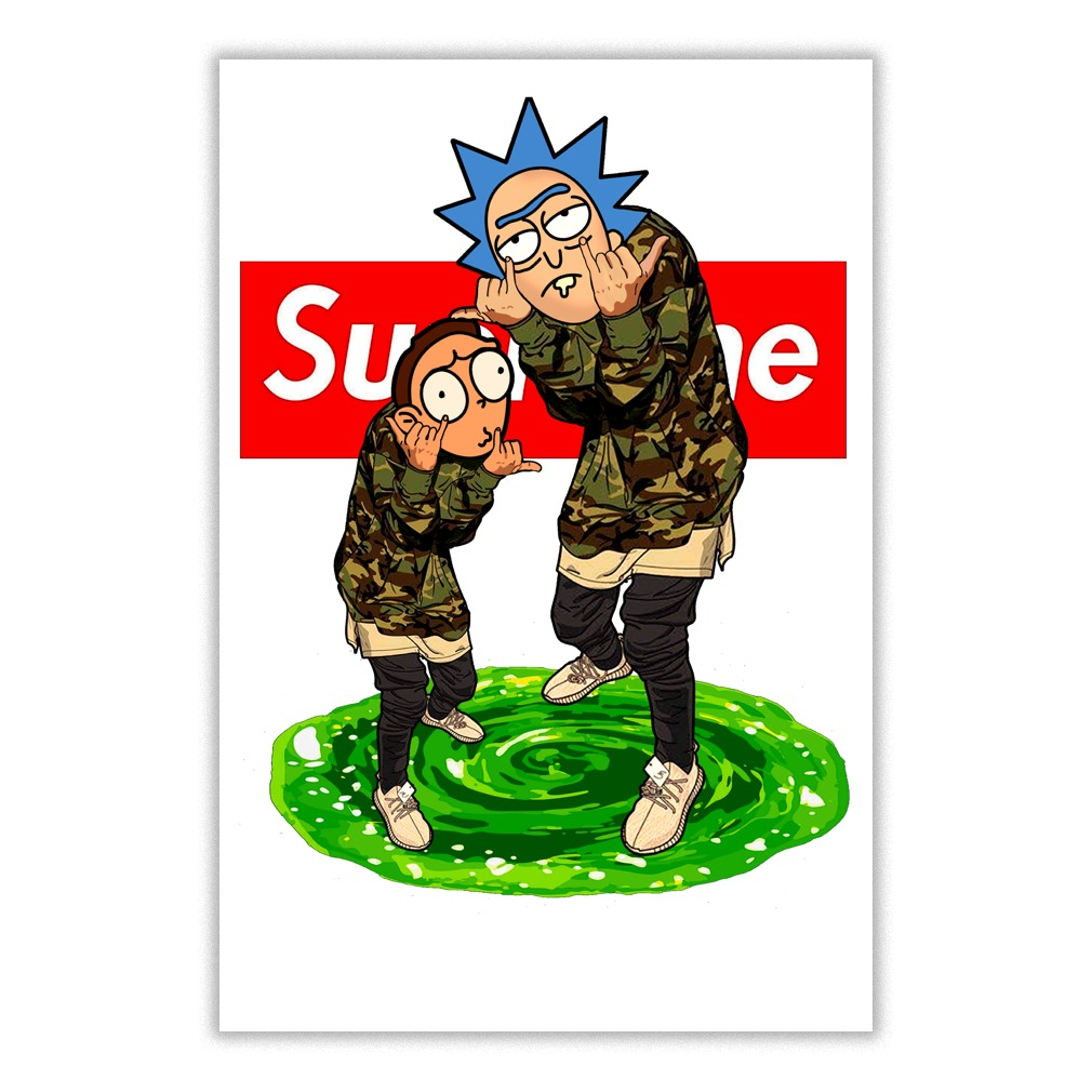 Collection of 14 Supreme clipart rick and morty aztec clipart 1010x1010