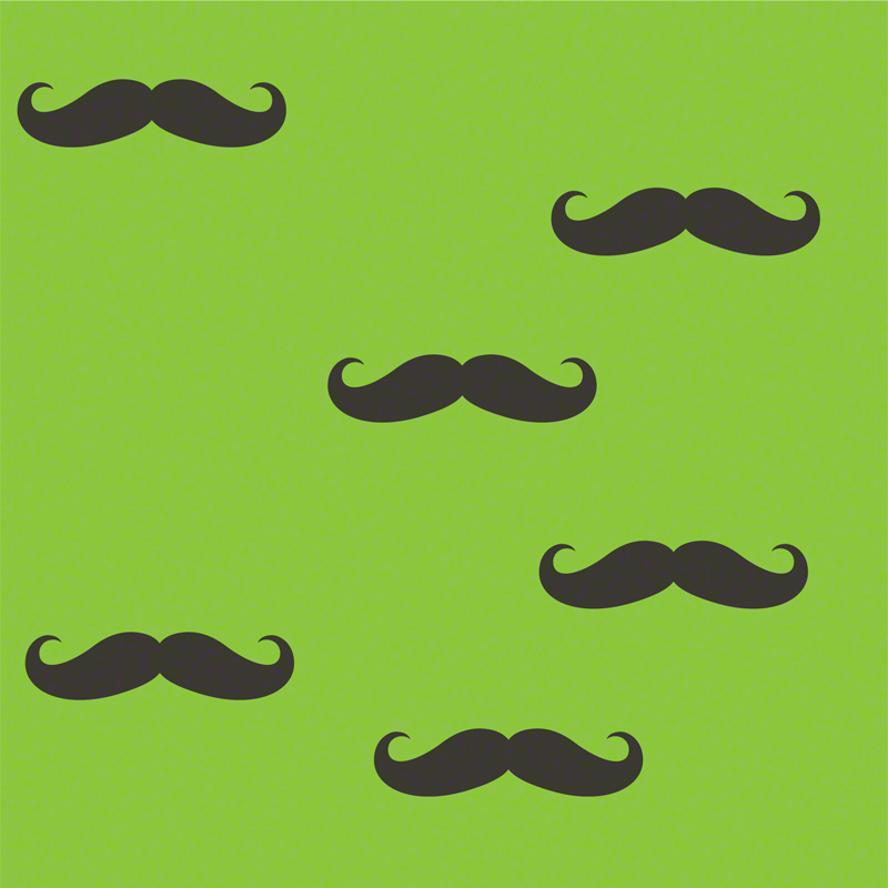 Mustache Removable Wallpaper by Wallcandy Arts   RosenberryRoomscom 800x800