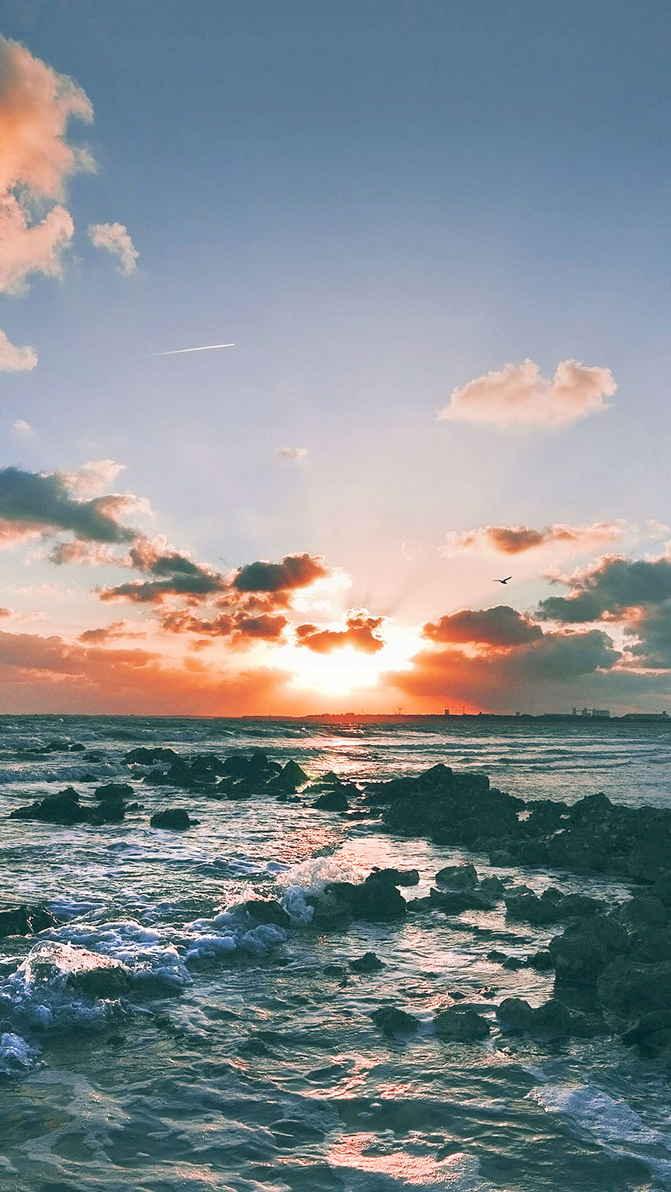 Ocean Sunset Wallpaper iPhone 6 preview 960x1704
