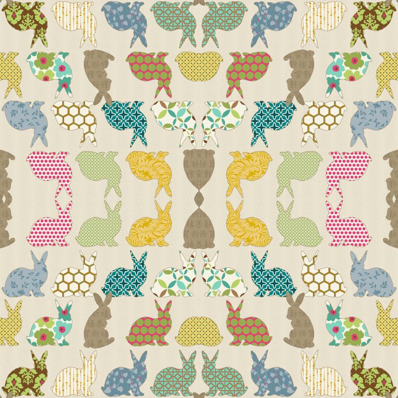 year of the COLORFUL rabbit wallpaper   littlerhodydesign 800x800