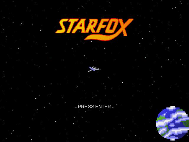 Star Fox 2D   Title Screen by OrangeTails 641x481