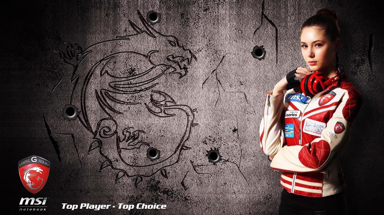 Girl Mode Dragon Logo MSi Headphone Widescreen HD Wallpaper j05 1440x810