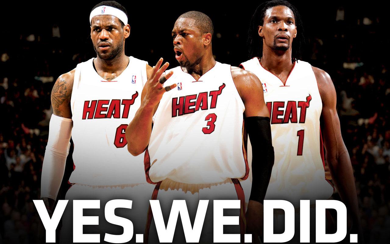 NBA Wallpapers Miami Heat   Lebron James Dwyane Wade Chris Bosh 1280x800
